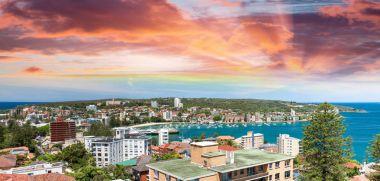 Sunset over Manly coastline, Sydney
