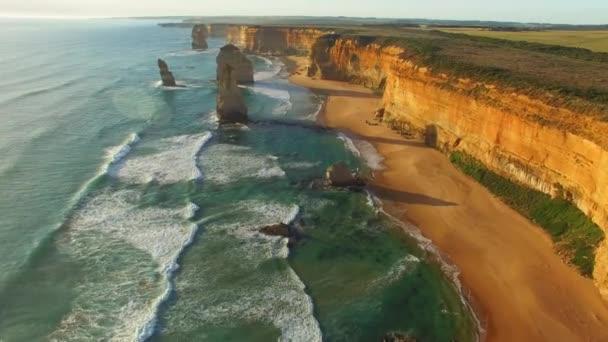 Wonderful view of 12 Apostles in Victoria, Australia. Video