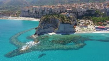 amazing nature of Tropea Coast, Calabria, Italy. Video
