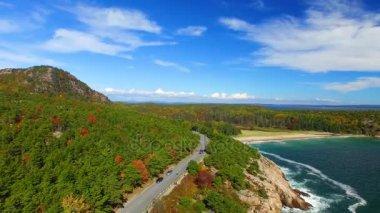 amazing rocky coast of Acadia National Park, Maine, United States of America