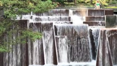 amazing view of cascading waterfall. Beauty of nature, video