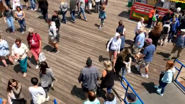 SAN FRANCISCO, USA  - AUGUST 2017: Tourists at Pier 39 attractions