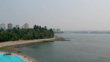 Stanley Park near downtown of Vancouver in British Columbia, Canada, video