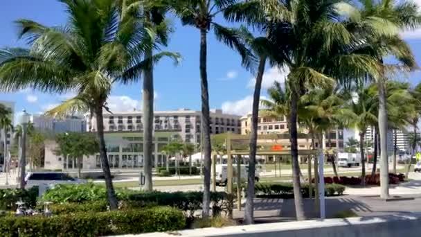 silnice podél West Palm Beach pobřeží, Florida, Usa