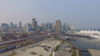 city port of Vancouver in British Columbia, Canada, video