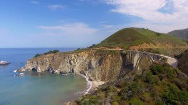 Big Sur amazing coastline, California, USA, video