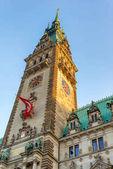 altes Rathaus am rathausmarkt in hamburg. hamburg, deutschland.