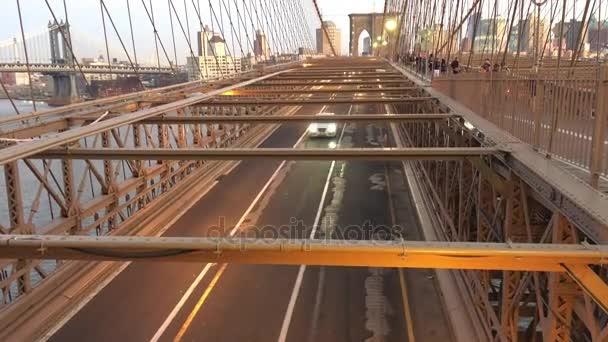 známý Brooklynský most v New Yorku, Usa