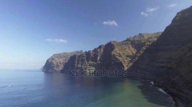 aerial view of Tenerife Los Gigantes coastline, Santa Cruz de Tenerife, Canary Islands, Spain, video