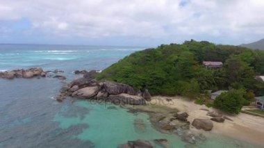amazing coast at Praslin island, Seychelles. Video