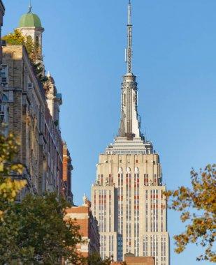 New York Manhattan skyline and buildings.