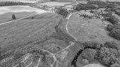 Fotografie Letecký pohled na kopec křížů v Litvě