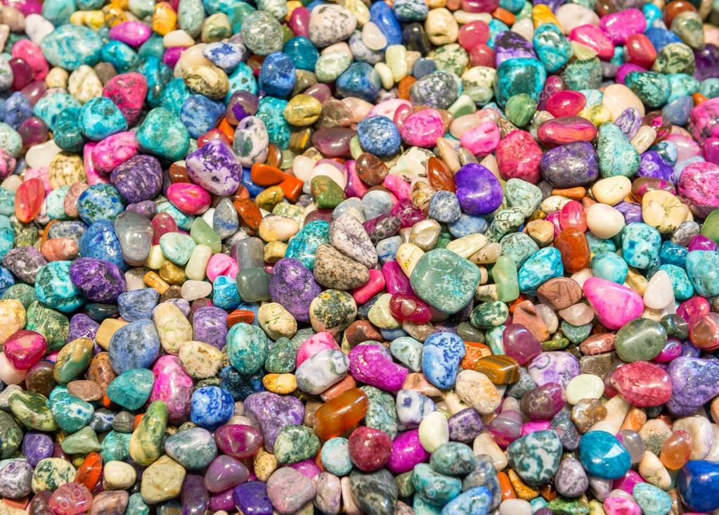 Colorful small stones, background.