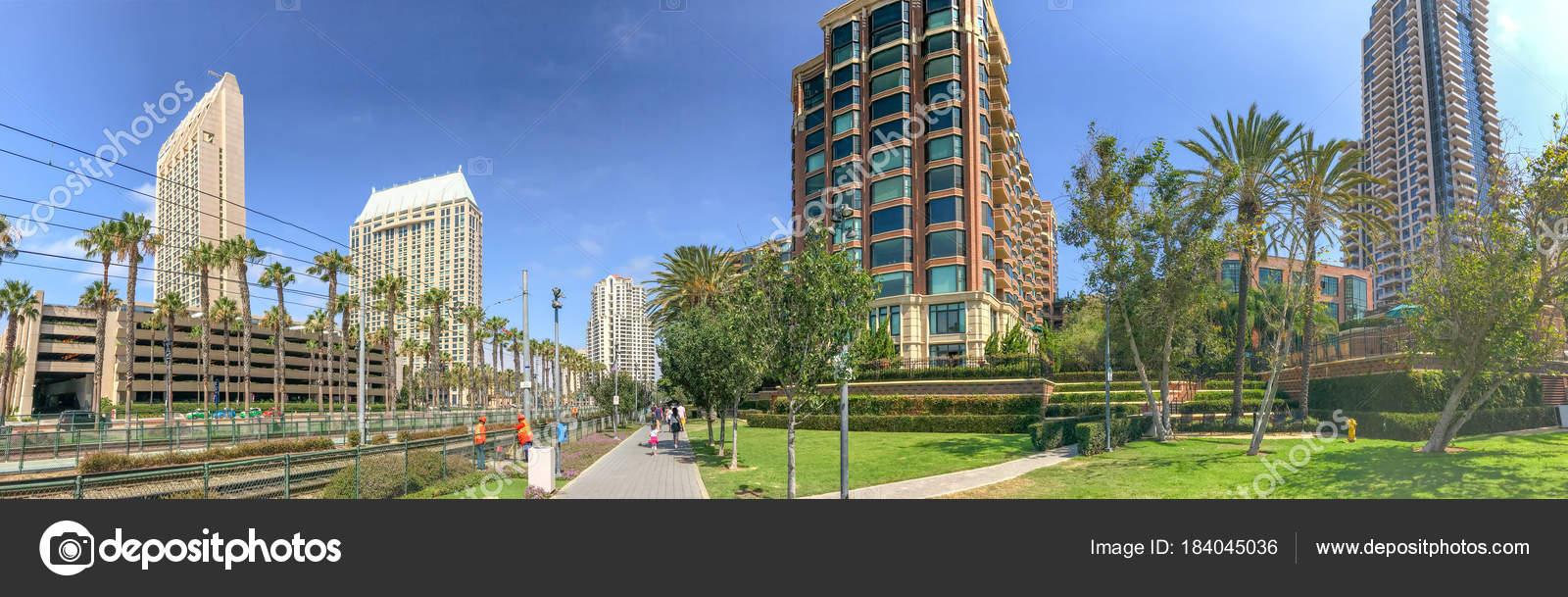 San Diego July 2017 City Skyline Martin Luther King Promenade