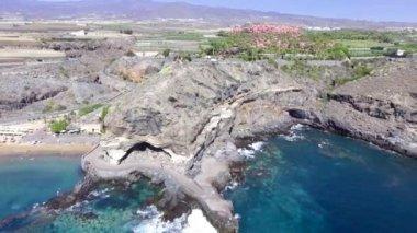 aerial view of shore at San Juan, Puerto Rico. Video