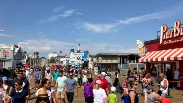 Santa Monica Pier, large double-jointed pier in Santa Monica, California, USA, video