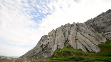 Morro Rock, volcanic plug in Morro Bay, California, on Pacific Coast, USA