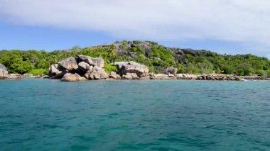 amazing tropical beach and ocean coast at Seychelles, video