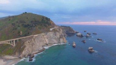 Big Sur amazing coastline, California, USA, video