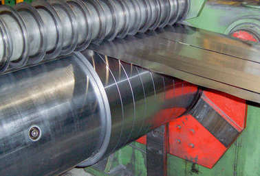 Metal coils plant. Industrial environment.