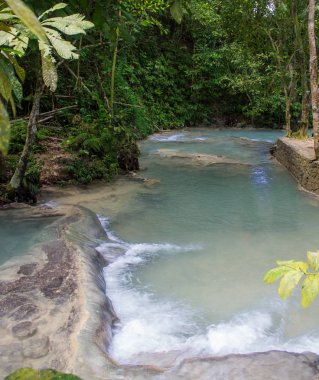 Shallow Waters at the Dunn's River Falls in Jamaica