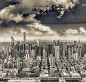 Letecký pohled na Manhattanu, new york city