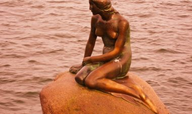 Mermaid in Copenhagen, Denmark