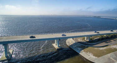 Aerial view of Sanibel Causeway, Florida