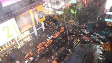 NEW YORK CITY - JUNE 15, 2013: traffic in Times Square at night