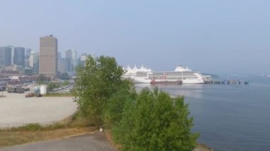 port of Vancouver in British Columbia, Canada, video