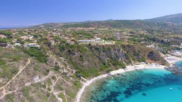Capo Vaticano, Calabria - Italy, Amazing panoramic aerial view of coastline on a sunny day.