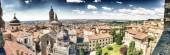 Fotografia Vista panoramica aerea di Bergamo Alta nella stagione estiva