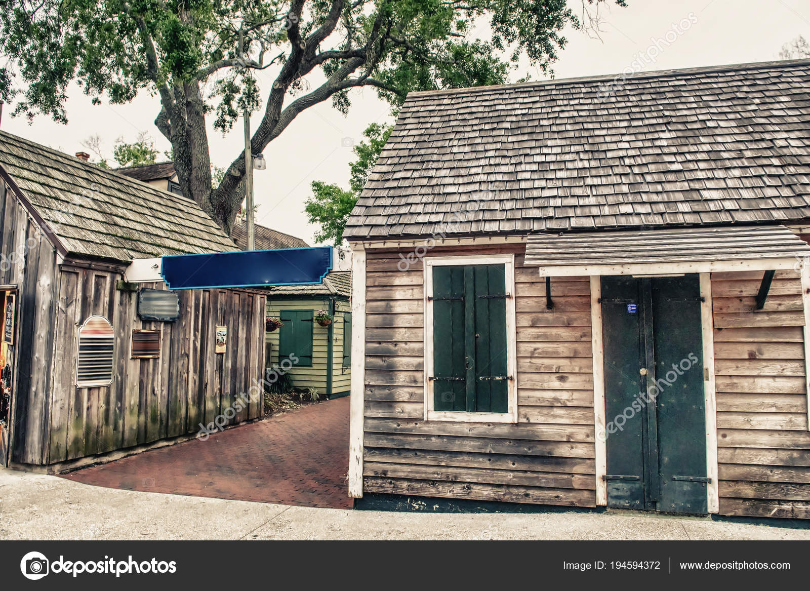 Wooden Homes Augustine Florida — Stock Photo © jovannig #194594372