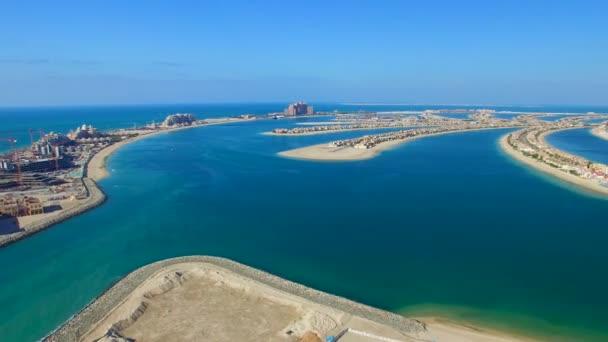 amazing aerial view of Dubai Palm Marina, UAE