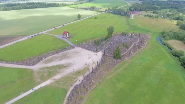 Hill Of Crosses in northern Lithuania, site of pilgrimage for hundreds of years, video