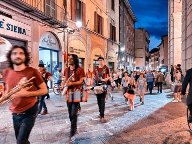 PISA, ITALY - SEPTEMBER 27, 2019: Corso Italia with tourists at