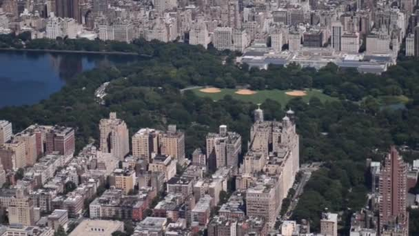 aerial footage of Manhattan, New York City, USA