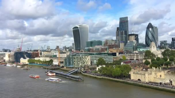 aerial footage of London city, Great Britain