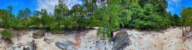 Ao Mai Ngam Beach, Surin Islands National Park. Panoramic view.