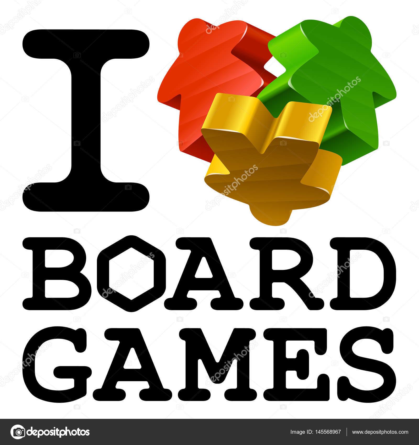 I Love Board Games Concept Stock Vector C D E N I S 145568967