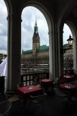 Schöne Aussicht von Rathaus, Hamburg