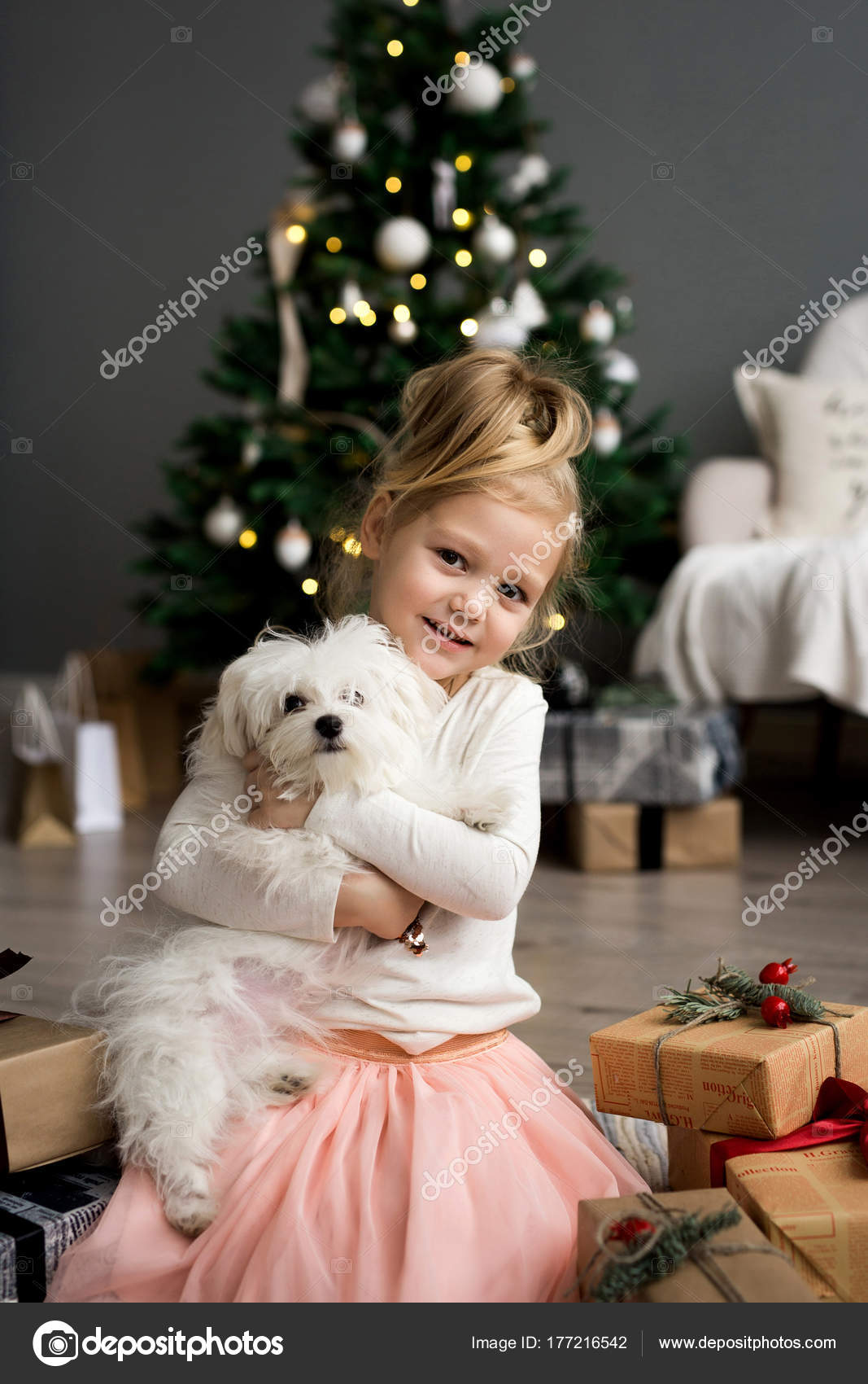 Merry christmas beautiful girl