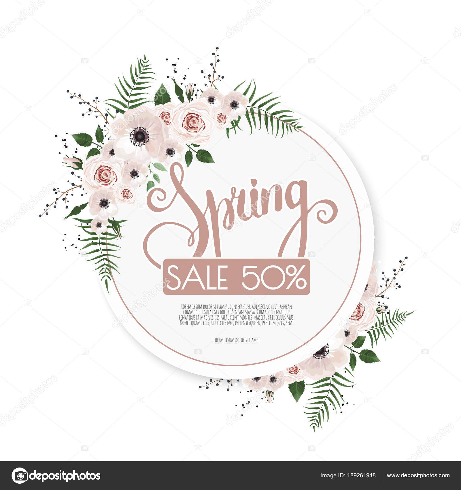 Fondo Primavera Venta Con Hermosas Flores Marco Del Diseño Del ...