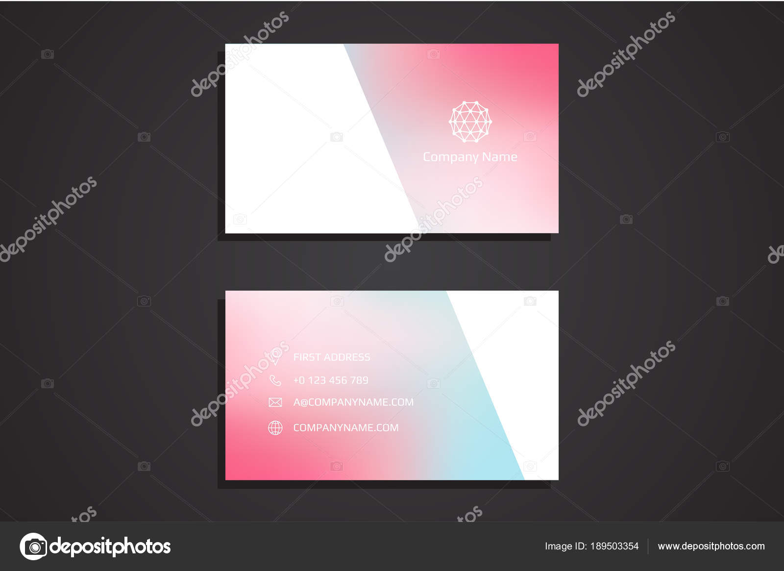 Moderne Creative Business Card Template Illustration Vectorielle