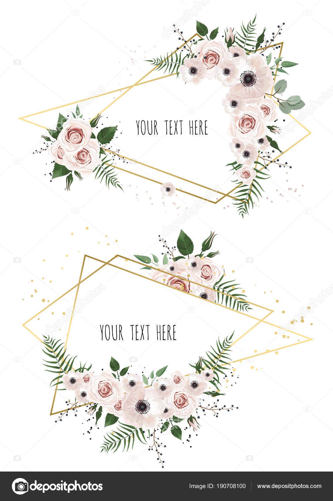 Two Floral Frames White Background — Stock Vector © Anasteisha ...