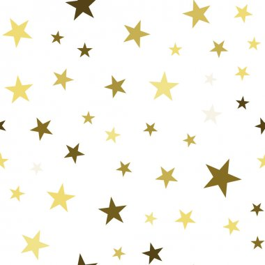 Seamless pattern with chaotic stars. Vector repeating texture