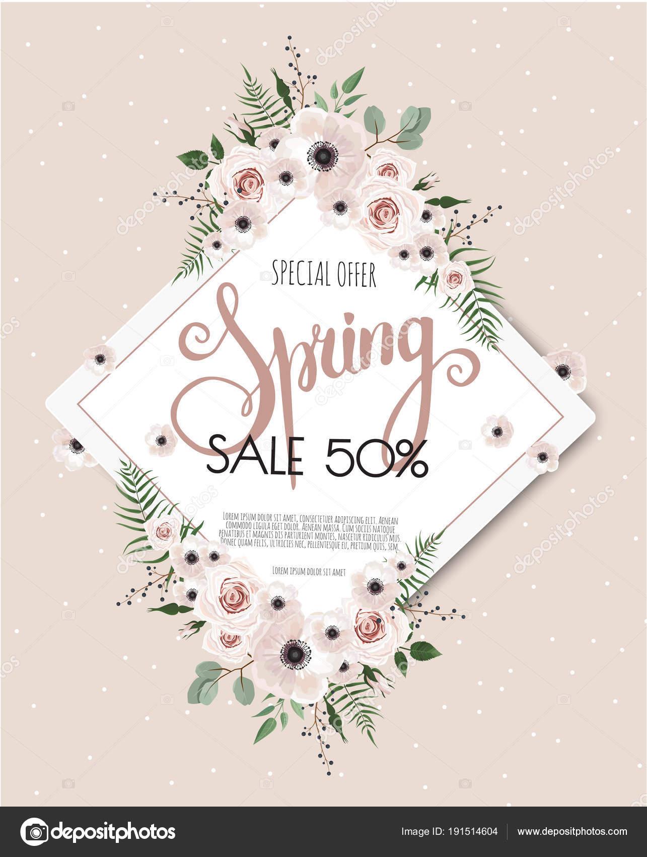 Vector floral design card. Greeting, postcard wedding invite ...