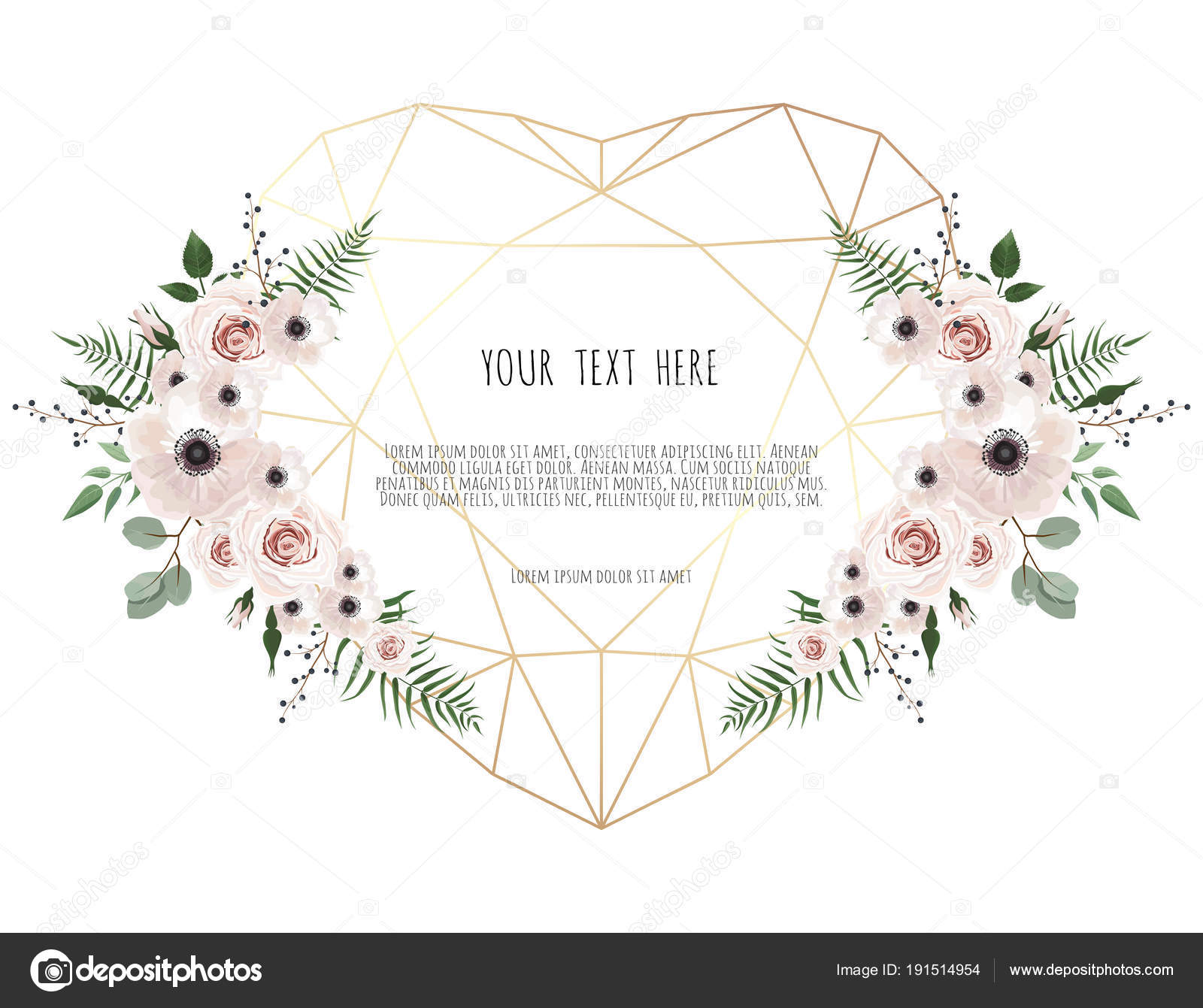 Valentines Card White Background Trending Polygonal Heart Spring