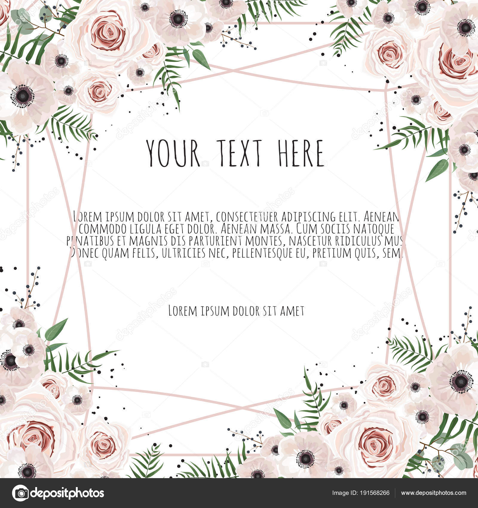 Vektor-floralen Design-Karte. Gruß, Postkarte Hochzeit Vorlage laden ...
