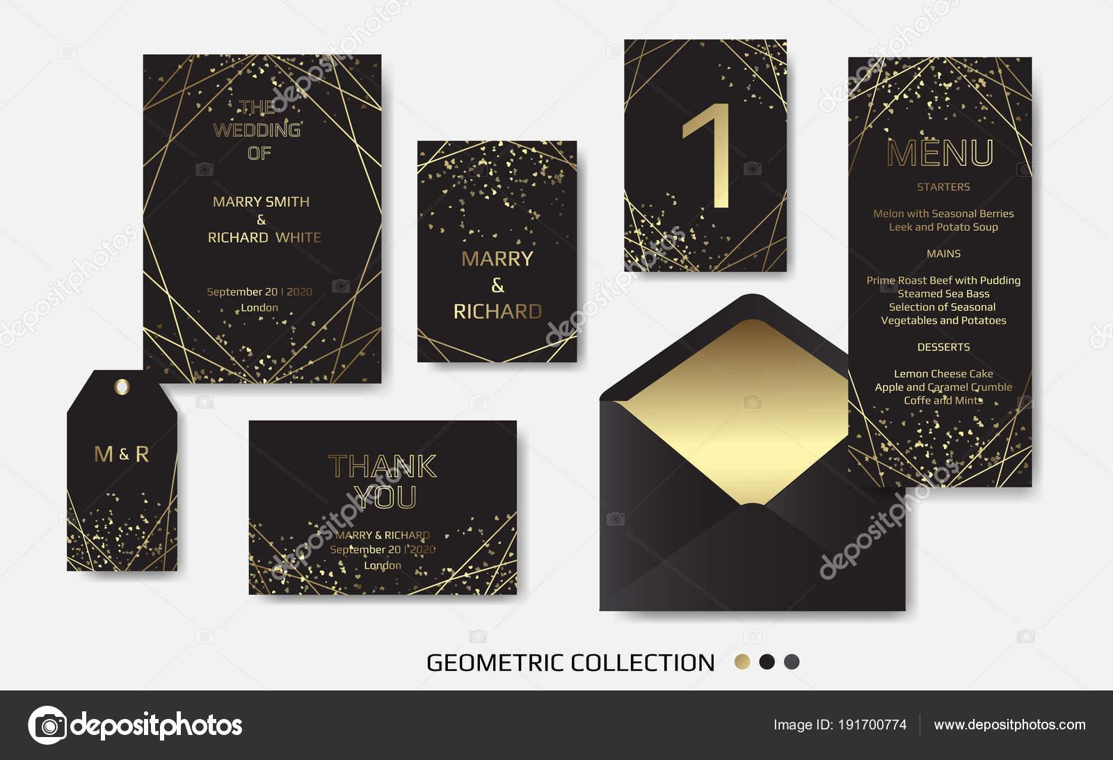 Invitation Mariage Inviter Carte Design Avec Des Lignes Art
